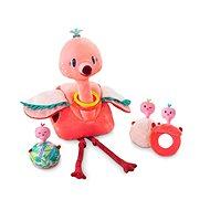 Textilní hračka Lilliputiens - plameňák Anais s dětmi