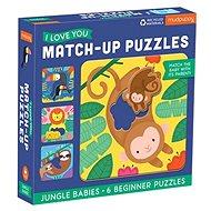 Match-Up Puzzle - Mláďata z džungle - Puzzle