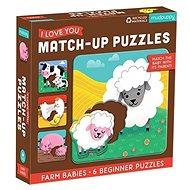 Match-Up Puzzle - Mláďata z farmy - Puzzle