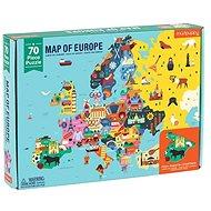 Geography Puzzle - Mapa Európy (70ks )