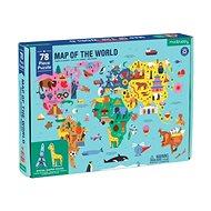 Geography Puzzle - Mapa světa (78 ks)  - Puzzle