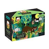 Svíticí puzzle - V lese (100 ks) - Puzzle