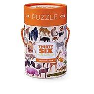 Puzzle tubus - 36 Divokých zvířat (100 dks) - Puzzle