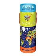 Puzzle a plakát - Svět (200 ks) - Puzzle