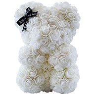 Rose Bear White Teddy Bear Made of Roses 25cm - Rose Bear