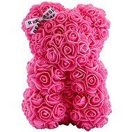 Rose Bear Pink Teddy Bear Made of Roses 25cm - Rose Bear