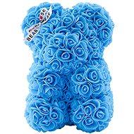 Rose Bear Light Blue Teddy Bear Made of Roses 25cm - Rose Bear