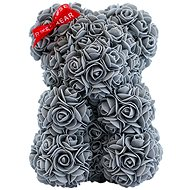 Rose Bear Gray Teddy Bear Made of Roses 25cm - Rose Bear