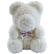 Rose Bear White Teddy Bear Made of Roses 38cm - Rose Bear