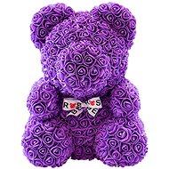 Rose Bear Purple Teddy Bear Made of Roses 38cm - Rose Bear