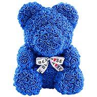 Rose Bear Modrý medvídek z růží 38 cm - Medvídek z růží