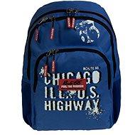 Busquets Chlapecký školní batoh Blue Route 66 - Školní batoh