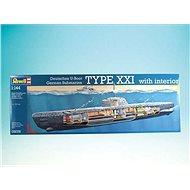 Plastic ModelKit ponorka 05078 - Deutsches U-Boot Typ XXI mit Interieur
