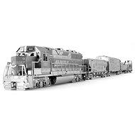 Metal Earth 3D puzzle Nákladní lokomotiva se 4 vagony (deluxe set) - 3D puzzle