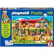 Puzzle Schmidt Puzzle Playmobil Farma 100 dílků + figurka Playmobil - Puzzle