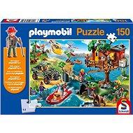 Puzzle Schmidt Puzzle Playmobil Domek na stromě 150 dílků + figurka Playmobil - Puzzle