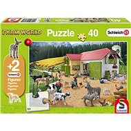 Puzzle Schmidt Puzzle Schleich Den na farmě 40 dílků + figurky Schleich - Puzzle