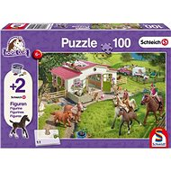 Puzzle Schmidt Puzzle Schleich Jízda na koních 100 dílků + figurky Schleich - Puzzle