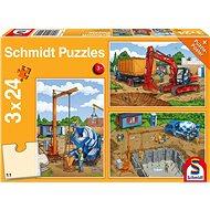 Schmidt Puzzle Na staveništi 3x24 dílků