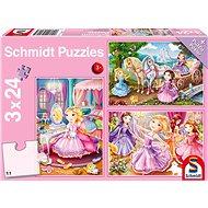 Puzzle Schmidt Puzzle Pohádkové princezny 3x24 dílků - Puzzle