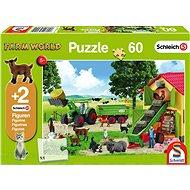 Puzzle Schmidt Puzzle Schleich Na farmě 60 dílků + figurky Schleich - Puzzle