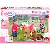 Puzzle Schmidt Puzzle Baby Born: Na farmě poníků 60 dílků + dárek - Puzzle