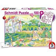 Schmidt Puzzle V pohádkové říši 100 dílků + dárek (nalepovací drahokamy) - Puzzle