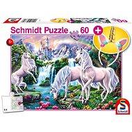 Schmidt Puzzle Jednorožci 60 dílků + dárek (čelenka)