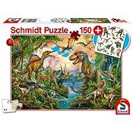 Schmidt Puzzle Dinosauři 150 dílků + dárek (tetovačky) - Puzzle