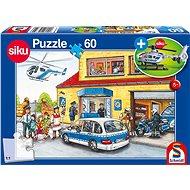 Puzzle Schmidt Puzzle Policie 60 dílků + model SIKU - Puzzle