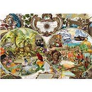 Schmidt Puzzle Exotická mapa světa 2000 dílků