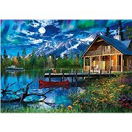Puzzle Schmidt Puzzle Horské jezero za úplňku 500 dílků - Puzzle