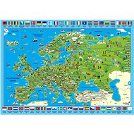 Schmidt Puzzle Ilustrovaná mapa Evropy 500 dílků - Puzzle