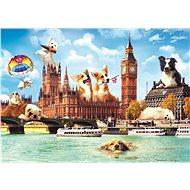 Trefl Puzzle Legrační města: Psi v Londýně 1000 dílků - Puzzle