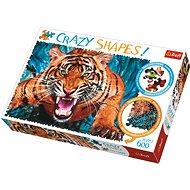 Trefl Crazy Shapes puzzle Útok tygra 600 dílků - Puzzle