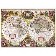 Trefl Puzzle Historická mapa světa r. 1630, 2000 dílků - Puzzle