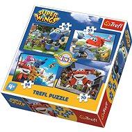 Trefl Puzzle Super Wings: Skvělý tým 4v1 (35,48,54,70 dílků)