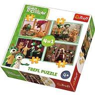 Puzzle Treflíci 4v1 (35,48,54,70 dílků)