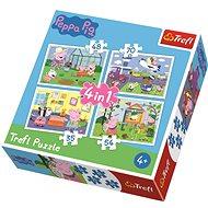 Trefl Puzzle Prasátko Peppa 4v1 (35,48,54,70 dílků)