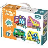 Trefl Baby puzzle Vozidla na stavbě 4v1 (3,4,5,6 dílků) - Puzzle