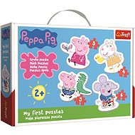 Trefl Baby puzzle Piggy Peppa 4in1 (3,4,5,6 pieces) - Puzzle