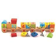 Trefl Dřevěný edukativní vláček s čísly - Dřevěná hračka