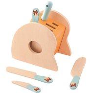 Trefl Dřevěný stojánek s noži a ocílkou - Dřevěná hračka