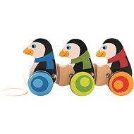 Trefl Tučňáci na kolečkách - Dřevěná hračka