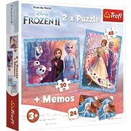 Trefl Puzzle Ice Kingdom 2, 30 + 48 pieces + memory game - Puzzle