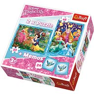 Trefl Puzzle Disney princezny 30+48 dílků + pexeso