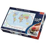 Trefl Scratch puzzle Politická mapa světa 500 dílků - Puzzle