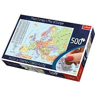 Trefl Scratch puzzle Politická mapa Evropy 500 dílků - Puzzle