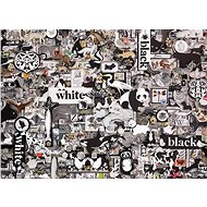 Cobble Hill Puzzle Černá a bílá: Zvířata 1000 dílků - Puzzle