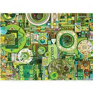 Cobble Hill Puzzle Barvy duhy: Zelená 1000 dílků - Puzzle